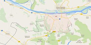 Karta Grada Iloka s okolicom.
